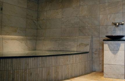 плитка из натурального камня для бани